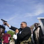 Senator fires gun outside Haitian Parliament; two wounded