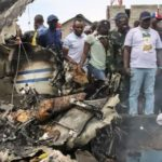 Congo plane crashes into homes in African town leaving at least 17 dead