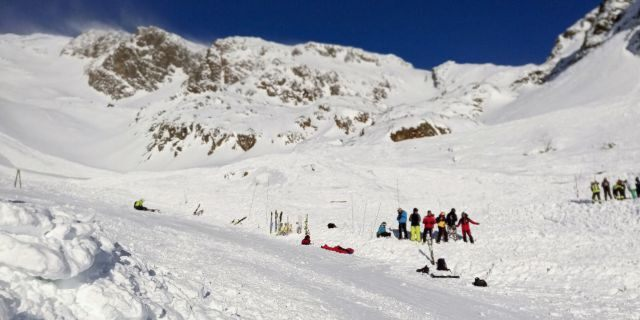 An avalanche killed a woman and two children who were skiing on a glacier in the Italian Alps on Saturday.