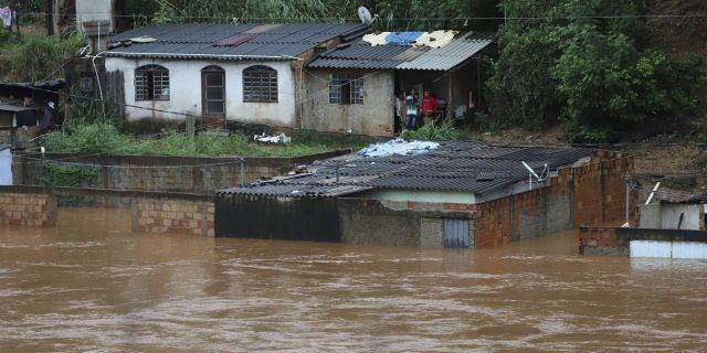Heavy rains caused flooding and landslides in southeast Brazil, killing at dozens of people, authorities said Saturday.