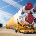 Nasa Moon rocket core leaves for testing