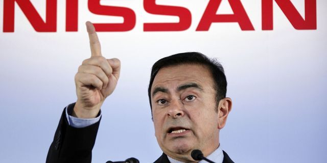 Ghosn, the former CEO of Nissan, was awaiting trial in Japan on financial misconduct charges.(AP Photo/Koji Sasahara, File)