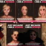 Doctored pics of Michelle Obama, Hillary Clinton used in violence against women campaign