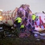 Plane breaks into pieces after skidding off runway in Turkey; 21 injured