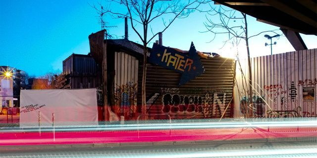 In this March 21, 2020, photo, the music club Kater Blau is closed in Berlin, Germany. (AP Photo/Markus Schreiber)