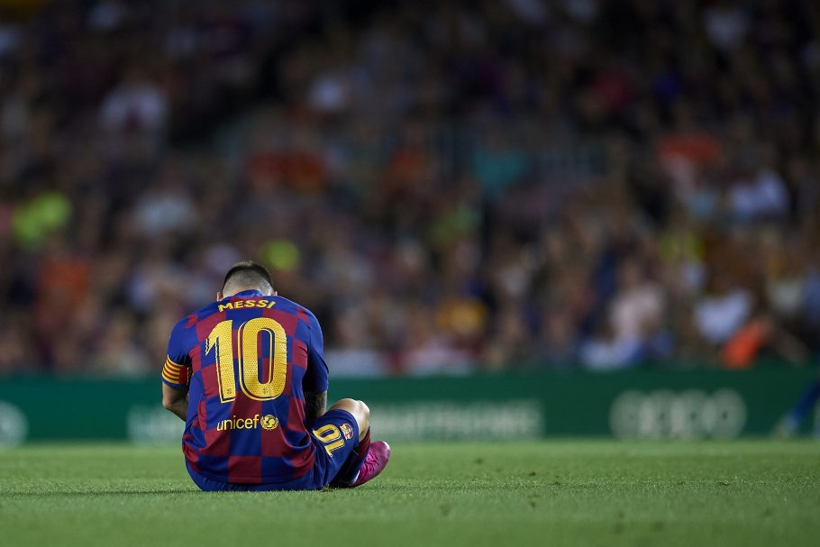 Messi misses out of Spanish Super Cup Semi through injury as Barcelona sweat over extent of Argentine's fitness