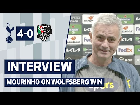 INTERVIEW | Spurs 4-0 Wolfsberger AC | Mourinho talks after qualifying for UEL Last 16