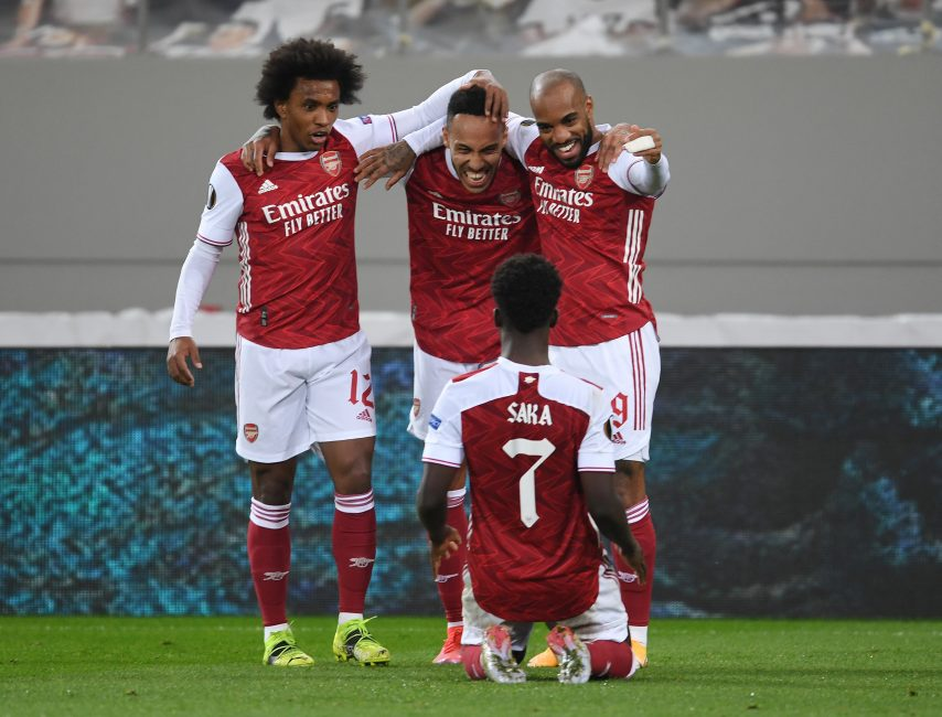 Aubameyang the hero, but Saka takes the plaudits as Arsenal keep season alive with Benfica late show