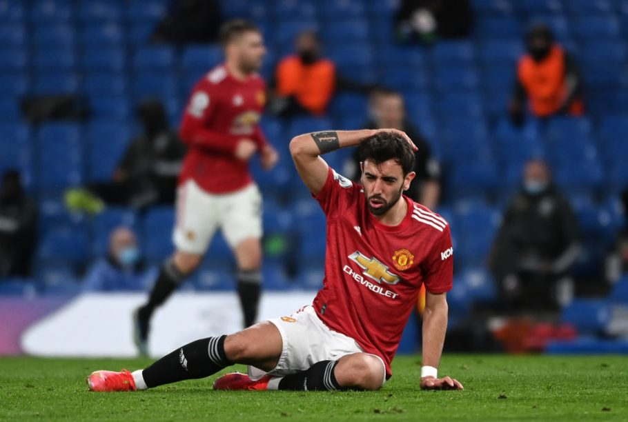 Man United & Bruno Fernandes' dismal record against the 'big six' highlighted following Chelsea draw