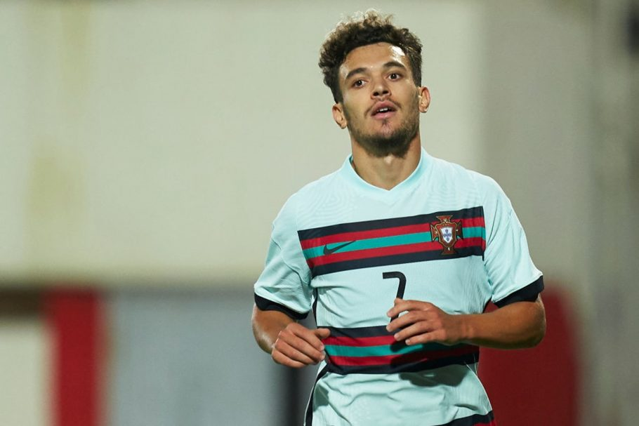 GIBRALTAR, GIBRALTAR - OCTOBER 13: Pedro Antonio Pereira Goncalves 'Pote' of Portugal U21 looks on during the UEFA Euro Under 21 Qualifier match between Gibraltar U21 and Portugal U21 at Victoria Stadium on October 13, 2020 in Gibraltar, Gibraltar. (Photo by Mateo Villalba/Quality Sport Images/Getty Images)