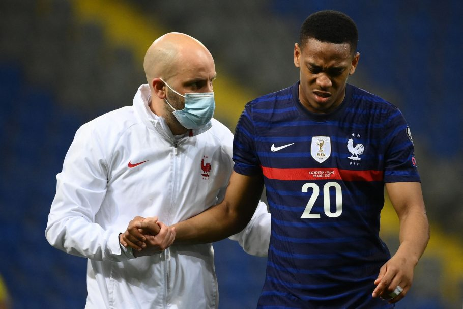 Manchester United boost as Anthony Martial resumed training on Monday
