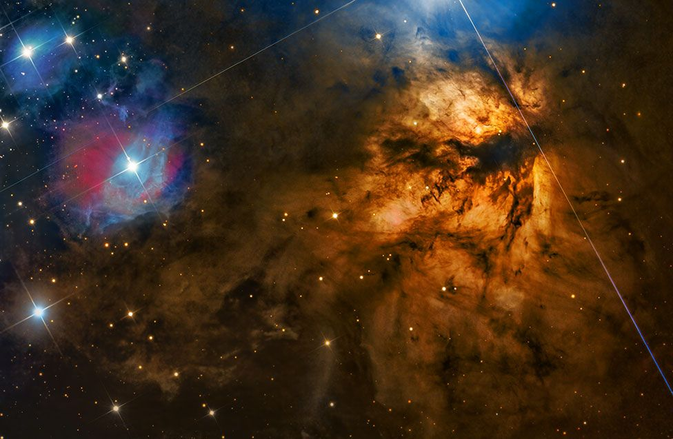An astronomy image by Steven Mohr showing NGC 2024 - Flame Nebula