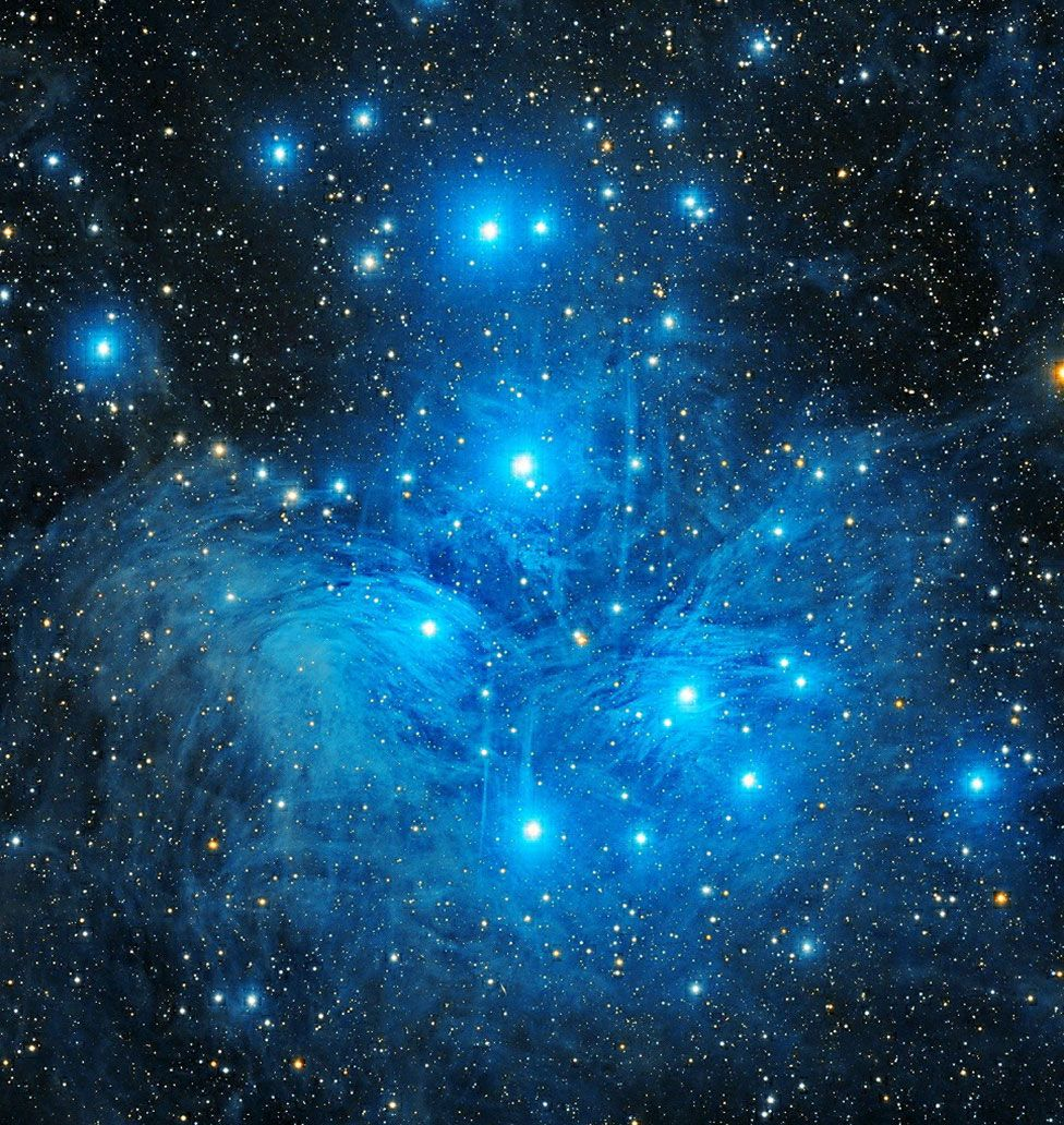 An astronomy image showing Pleiades Sisters star cluster by Jashanpreet Singh Dingra