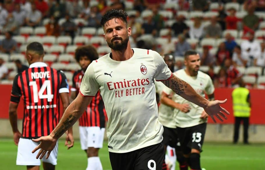 Video: Olivier Giroud nets with first touch in AC Milan's colours